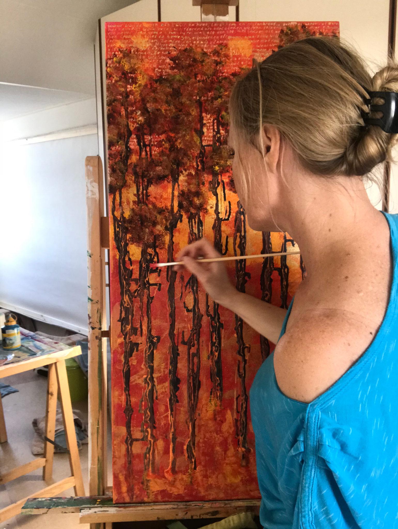Elise Eekhout | 2 MAAL EE | Corona-Stories | Tall as a Spire 03 | painting
