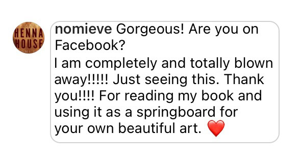 Comment: Gorgeous! I am completely and totally blown away!!!! Just seeing this. Thank you!!!! For reading my book and using it as a springboard for your own beautiful art. (comment form the writer of the inspiration source)