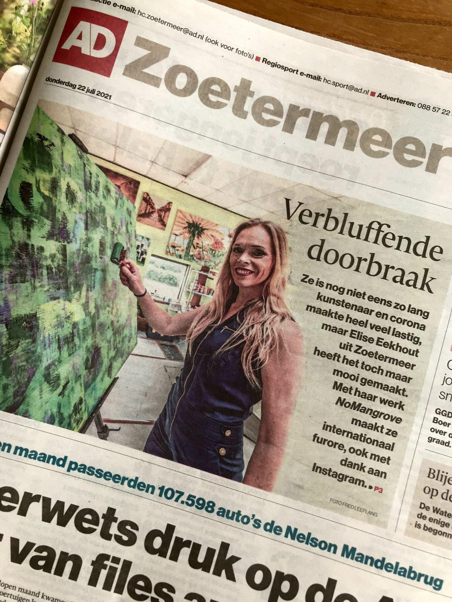 Elise Eekhout | Message in newspaper