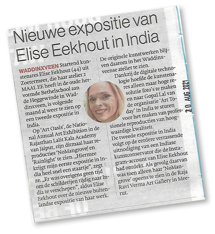 Elise Eekhout   Message in newspaper