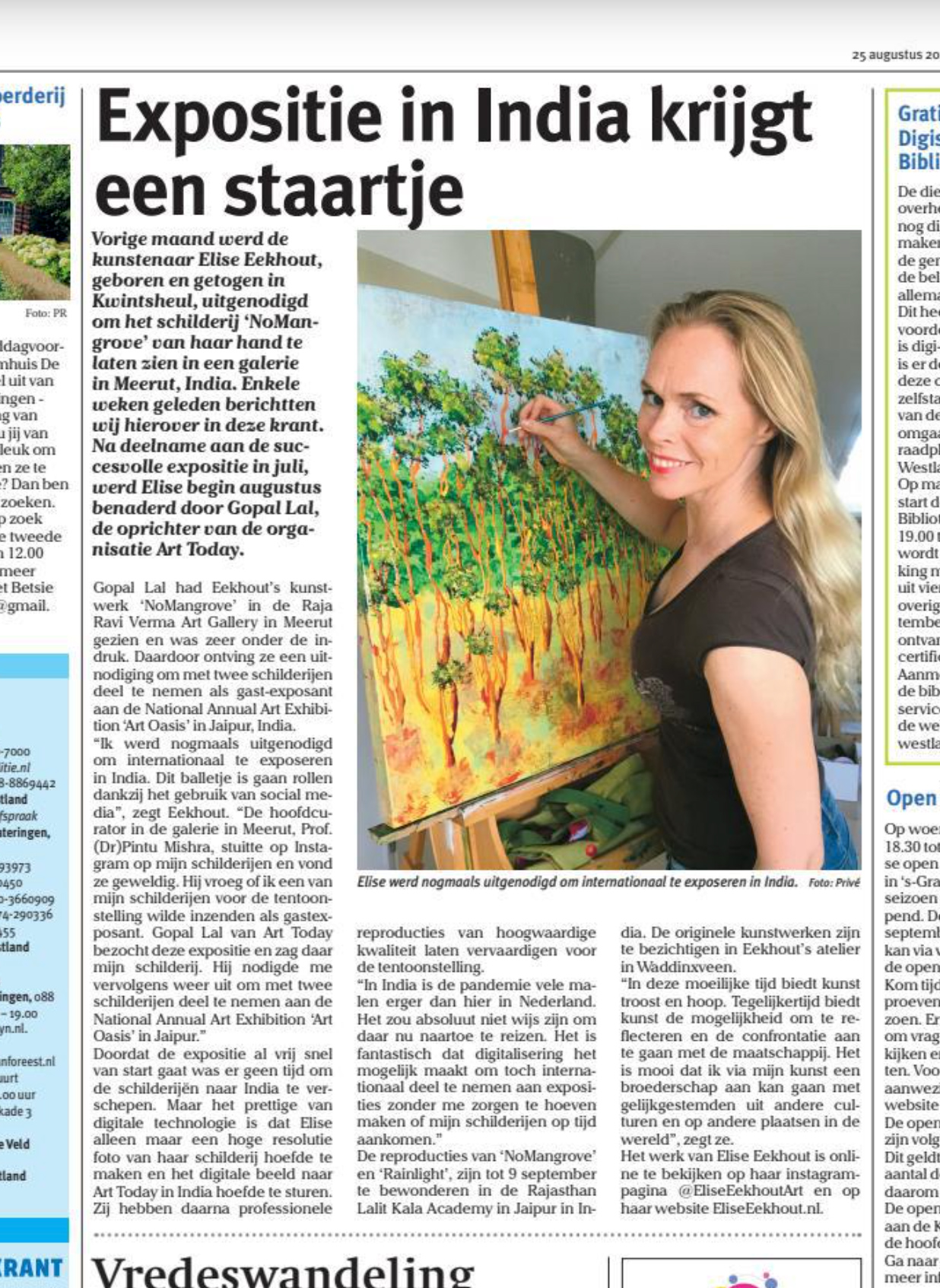 Elise Eekhout | newspapers